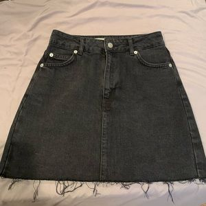 Black denim topshop mini skirt